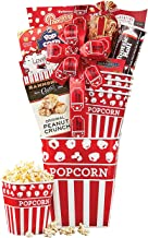Wine Country Gift Baskets Movie Night Popcorn & Candy Gift Basket Snacks Tootsie Rolls Popcornopolis Ghirardelli Sweets Filled Reusable Nostalgic Popcorn Tub w/ Four Small Tubs For Sharing