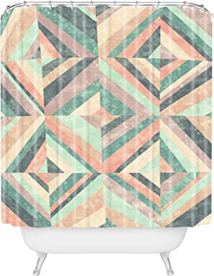 Amazon Com Deny Designs Jacqueline Maldonado Vintage Stripe Shower Curtain 69 X 72 Home Kitchen
