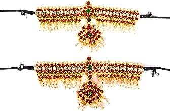 Thavasi Raj Yellow Crystal Bharatham Bharatanatyam Hand Vanki for Women