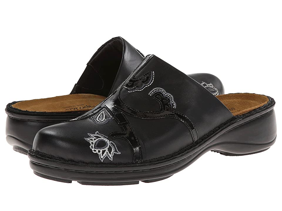 Naot Magnolia (Black Raven Leather/Black Patent Leather) Women