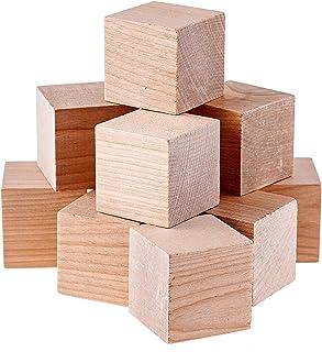 Namvo 12PCS Cubes en Bois - 50mm - Blocs carrés en Bois pour la Fabrication de pièces de Puzzle, Artisanat et projets de B...