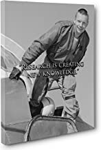 New Knowledge Neil Armstrong Quote Canvas Wall Art