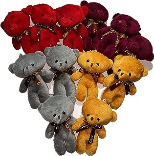 Plush Teddy Bears Stuffed Animals Soft Toy (1 dozen) - Bulk, 4 Colours, Party Favor Bag Fillers for Boys Girls Kids Children