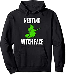 Resting Witch Face Halloween Costume Funny Pullover Hoodie