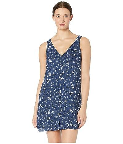 American Rose Abigail Sleeveless Floral Dress (Navy) Women