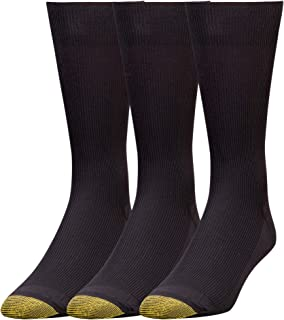 Gold Toe Men's Extended Size Metropolitan Dress Socks (3 Pair Pack)