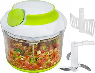 Brieftons QuickPull Food Chopper: Large 4-Cup Powerful Manual Hand Held..