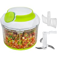 Brieftons QuickPull Food... Brieftons QuickPull Food Chopper: Large 4-Cup Powerful Manual Hand Held...