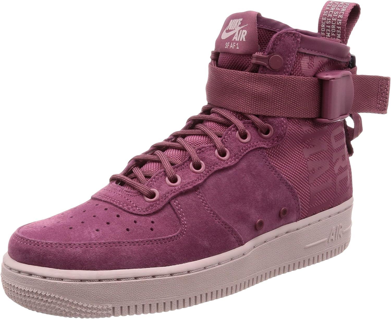 Nike Womens SF Air Force 1 MID FIF Athletic & Sneakers Burgundy