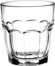 Bormioli Rocco Rock Bar Stackable Rocks Glasses, Set of 6, 9 1/4oz.
