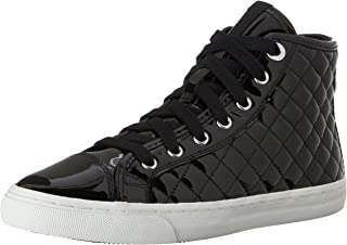 GEOX Women's New Club High Top Patent Fashion Sneaker
