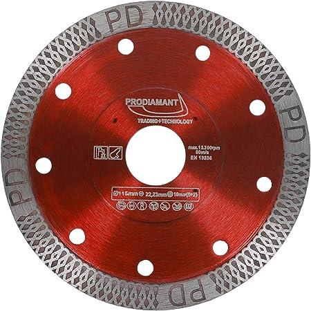 PRODIAMANT Disco de corte para azulejos y baldosas de 115mm con 22,23 mm de diámetro para cortar y rebanar azulejos finos y piedras naturales Art.Nr.PDX93.936