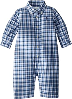 Plaid Cotton Poplin Coverall (Infant)