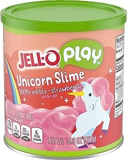 JELL-O Play Unicorn Edible Slime Gelatin Dessert Kits (14.8 oz Tins, Pack of 2)