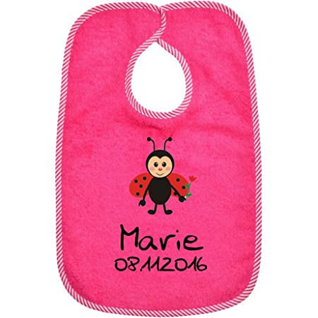 Baby mit /Ärmel f/ür Jungs und M/ädchen 100/% Baumwolle Spucktuch personalisiert Langarm L/ätzchen bestickt mit Namen