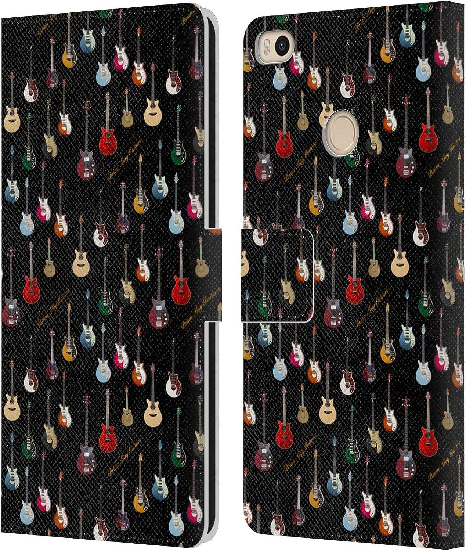 Head Case Designs Licenciado Oficialmente Brian May Guitarra Iconic Carcasa de Cuero Tipo Libro Compatible con Xiaomi Mi MAX 2