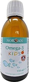 NORSAN Omega 3 KIDS I 1.120mg Omega 3 Öl mit den Vitaminen A und E I flüssiges Omega 3..