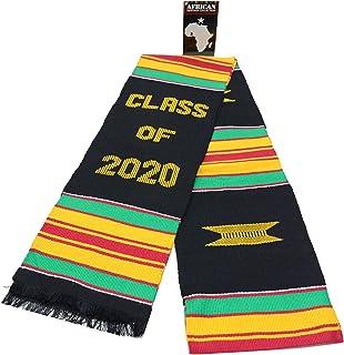 Ghana Kente Stole Sash (Black) - Class of 2020
