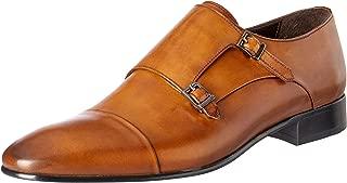 Brando Men's Patrick Lace-Up Flats Shoes, Monk Silver