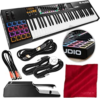 M-Audio Code 61 61-Key USB/MIDI Keyboard Controller with X/Y TouchPad (Black) and Sustain Pedal + Cables Deluxe Bundles