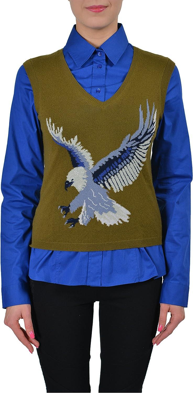 Ballantyne 100% Cashmere Green VNeck Knitted Women's Sweater Vest US S IT 40