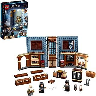 LEGO Harry Potter76385 Poudlard : Le Cours de sortilèges, Livre incluant Les Figurines de Harry Potter et du Professeur Fl...