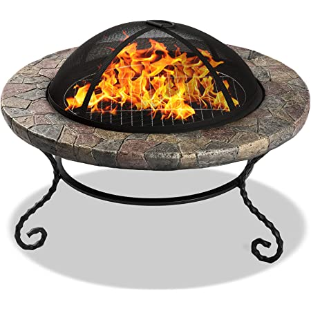 Coffee Table Centurion Supports Fireology CALAGORA Grand Garden /& Patio Heater Fire Pit Brazier Barbecue and Ice Bucket with Granite Tiles