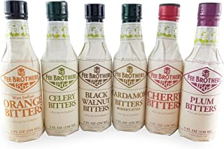 Sponsored Ad - Fee Brothers Bar Cocktail Bitters, Set of 6, Cardamom, Black Walnut, Plum, Celery, Orange and Cherry