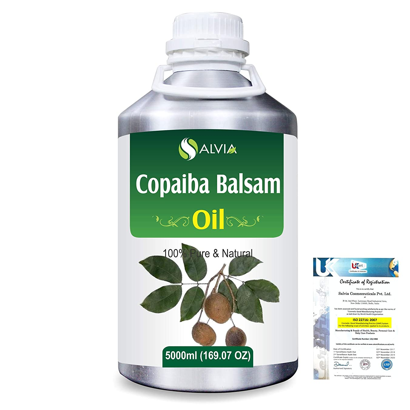 抗議解釈するエアコンCopaiba Balsam 100% Natural Pure Essential Oil 5000ml/169fl.oz.