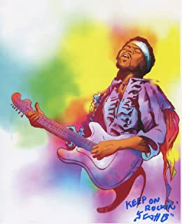 Jimi Hendrix Fun Cool Signed 8.5x11 Tribute Print With COA