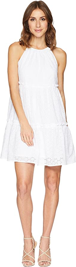 Two Tier Cotton Eyelet Dress