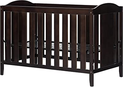 Angel Crib and Toddler Bed - Convertible Nursery Furniture for your Baby - Espresso - by South Shore