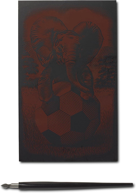 Medio Creatividad Elefantes Reeves oro Tarjeta de Raspar
