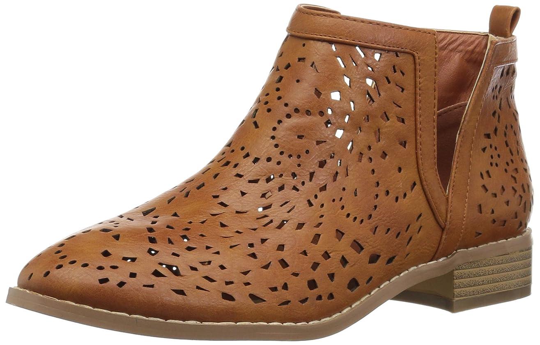ヨーロッパ肯定的半円Brinley Co Womens payton Almond Toe Ankle Fashion Boots [並行輸入品]