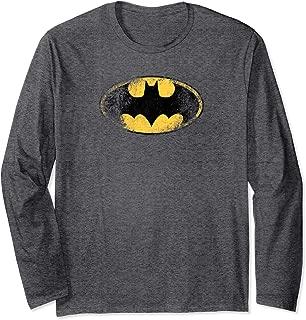 Batman Destroyed Logo Longsleeve T Shirt Long Sleeve T-Shirt