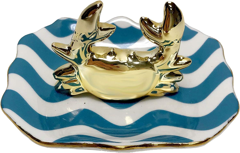 gold ring holder Mermaid Trinket Tray