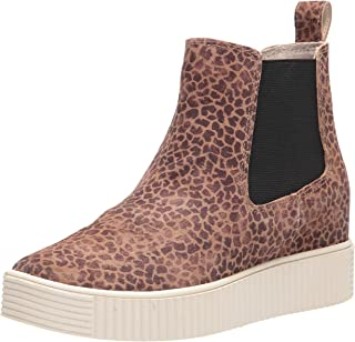 Dolce Vita Women's COLA Ankle Boot, DK Leopard Suede, 7.5