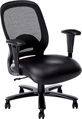 Techni Mobili Comfy Big and Tall Office Computer Chair, Black