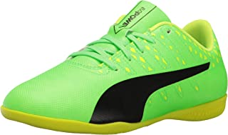 PUMA Kids' Evopower Vigor 4 IT Jr Skate Shoe, Green Gecko Black-Safety Yellow, 5 M US Big Kid