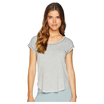 Splendid Short Sleeve Pajama Top (Light Heather Grey) Women