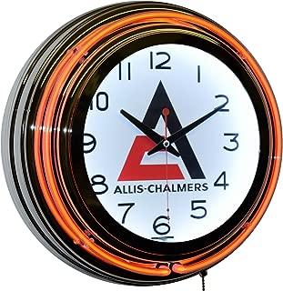 Allis-Chalmers Logo Orange Double Neon Advertising Clock