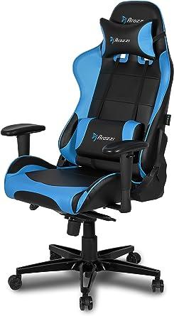 Arozzi Verona XL+ Cadeira de jogos em estilo de corrida extra ampla com encosto alto, inclinação, inclinação e ajuste de altura do assento, lombar e almofadas de apoio de cabeça incluídas – PC; Mac; Linux