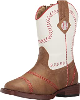 ROPER Boys' Baseball Western Boot Square Toe