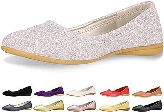 c46b26e07133c CINAK Flats Shoes Women– Slip-on Ballet Comfort Walking Classic Round Toe  Shoes