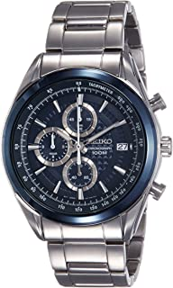 Seiko Men`s Chronograph Quartz Watch with Stainless Steel Bracelet – SSB177P1