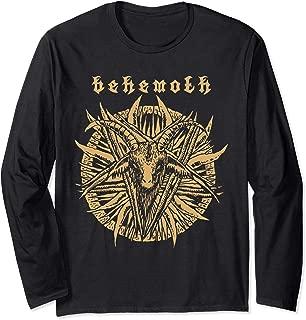 Behemoth Goat Pentagram Skull Long Sleeve T-Shirt by KRAFTD