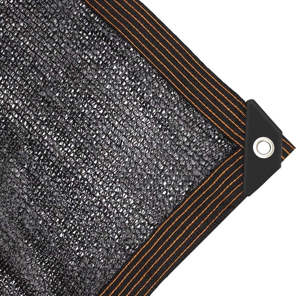 JIWINNER 65%-75% Black shopping Sunblock Shade Cloth Taped Max 44% OFF Grommets Edge
