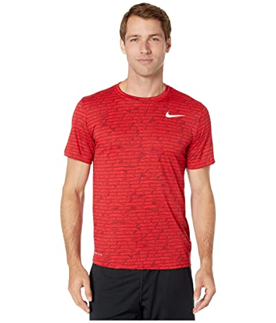 Nike Dry Tee Leg Seasonal All Over Print (University Red) Men