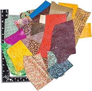 Springfield Leather Company's Printed and Embossed Leather Scraps (1lbs small pieces)