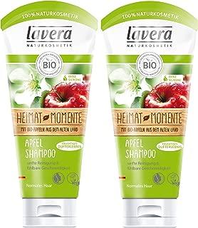 lavera Apfel Haar Shampoo  Sanfte Reinigung  vegan  Bio Haarshampoo  Natural & innovative Hair Care  Naturkosmetik  Haarpflege 2er Pack 2 x 200 ml
